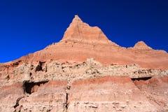 South Dakota Badlands nära sörjer Ridge indierreservation arkivfoton