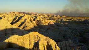 South Dakota Badlands nära sörjer Ridge indierreservation Royaltyfri Foto