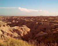 South Dakota Badlands nära sörjer Ridge indierreservation Fotografering för Bildbyråer