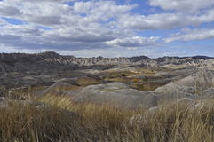 South Dakota Badlands nära sörjer Ridge indierreservation Royaltyfri Foto