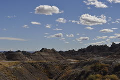 South Dakota Badlands nära sörjer Ridge indierreservation Arkivbild