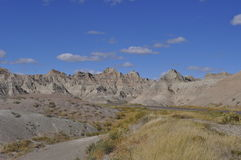 South Dakota Badlands nära sörjer Ridge indierreservation Arkivfoton