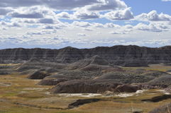 South Dakota Badlands nära sörjer Ridge indierreservation Fotografering för Bildbyråer