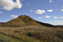South Dakota Badlands nära sörjer Ridge indierreservation Royaltyfri Bild