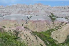South Dakota Badlands nära sörjer Ridge indierreservation Arkivbild