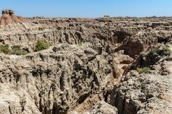 South Dakota Badlands nära sörjer Ridge indierreservation royaltyfri bild