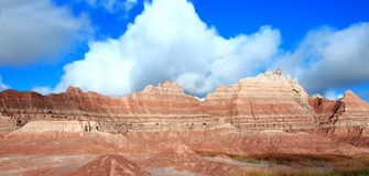 South Dakota Badlands ridgeline panorama royalty free stock photography