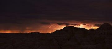 South Dakota belysningstorm arkivfoto