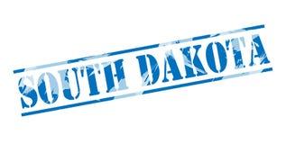 South dakota blue stamp Royalty Free Stock Images