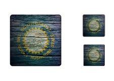 South-Dakota flag Buttons Stock Photography