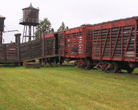 South Dakota Frontier railroad cars Royalty Free Stock Image