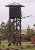 South Dakota Frontier railroad water tower. Wooden water tower alongside the railroad in a South Dakota frontier town Royalty Free Stock Image