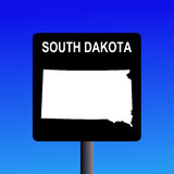 South Dakota highway sign Royalty Free Stock Photos