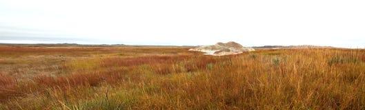 South Dakota prärie med askakullepanorama arkivfoton