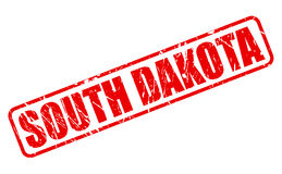 South dakota red stamp text Stock Images