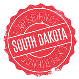 South Dakota rubber stamp. Grunge design with dust scratches. Effects can be easily removed for a clean, crisp look. Color is easily changed royalty free illustration
