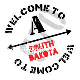 South Dakota rubber stamp Stock Photography
