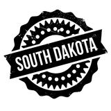 South Dakota rubber stamp. Grunge design with dust scratches. Effects can be easily removed for a clean, crisp look. Color is easily changed stock illustration