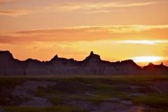 South Dakota solnedgång arkivbild