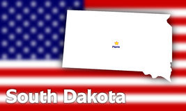 South Dakota state contour Royalty Free Stock Photo