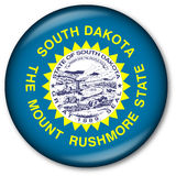 South Dakota State Flag Button vector illustration