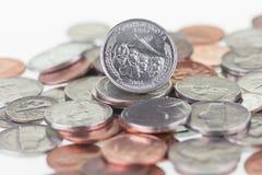 South Dakota State Quarter reverse extreme close up stock photos