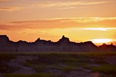 South Dakota Sunset Stock Photography