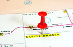 South Dakota   USA  map Stock Photo