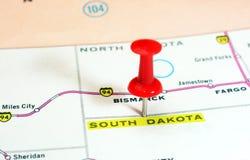 South Dakota   USA  map Stock Photo