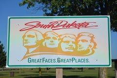 South Dakota välkommet tecken Royaltyfri Bild