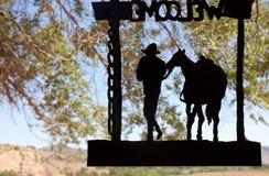 South Dakota välkomnande till ranchen arkivbilder