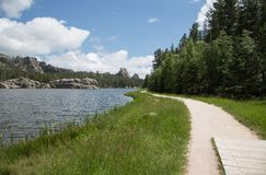 South Dakota Wald- Seegehweg Stockfoto