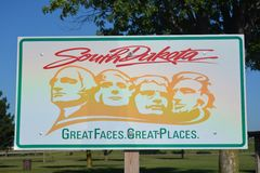 South Dakota Welcome Sign Royalty Free Stock Image