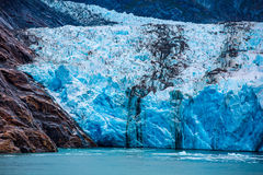 South Dawes Glacier in the Endicott Arm Royalty Free Stock Image