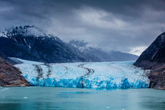 South Dawes Glacier from the Endicott Arm Royalty Free Stock Photo