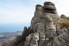 South Demerdzhi. Crimea. One of the mountains in the main ridge of Crimean mountains Royalty Free Stock Image