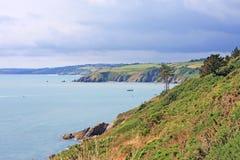 South Devon Coast. Cliffs of the South Devon Coast Royalty Free Stock Photos