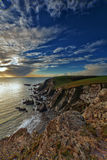 South Devon Coast Sunset Royalty Free Stock Images