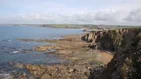 South Devon coast to Thurlestone England UK stock video