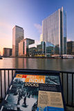 South dock and Canary Wharf, London. Stock Images