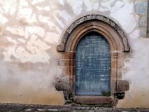 South door of 17th C church Royalty Free Stock Images