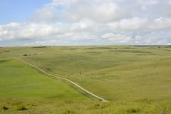 South Downs countryside near Eastbourne. England Royalty Free Stock Image