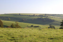 South Downs countryside near Worthing. England. England. West Sussex. Worthing. Countryside on South Downs Stock Photo
