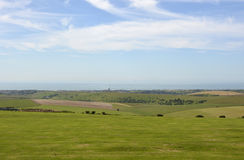 South Downs and sea at Shoreham, England Stock Photos