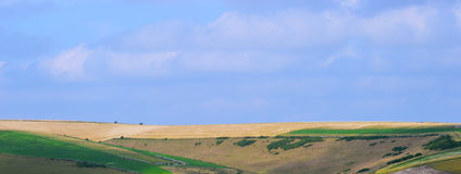 South Downs in Sunlight 2. Undulating hills of south downs Royalty Free Stock Images
