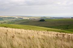 South Downs in Sussex. England Royalty Free Stock Photos