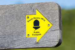 South Downs Way Public Footpath Stock Photos