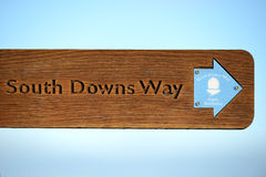 South Downs way sign Stock Photography