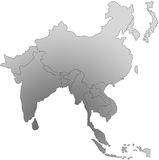 South east asia map. Black and white image illustration of south east asia Royalty Free Stock Photos