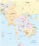 south east asia map Royalty Free Stock Images